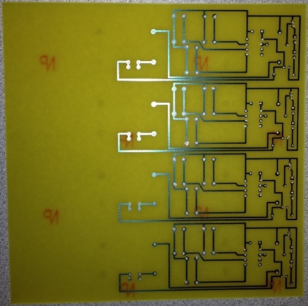 Circuitry Etched on to a Boards
