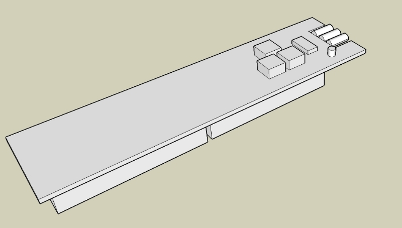 Google Sketchup Mockup of Remote