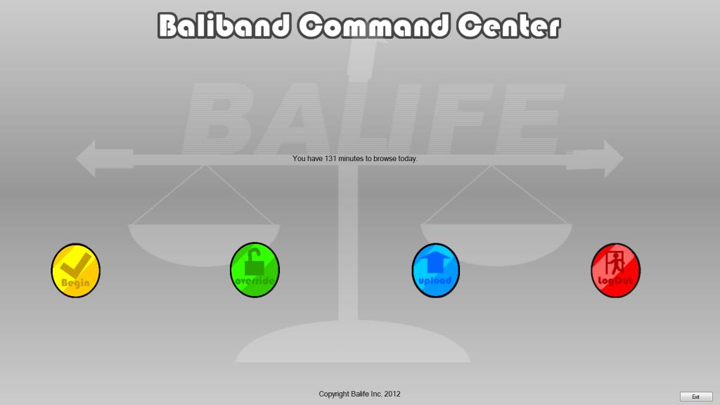 The Balife Desktop Software home screen